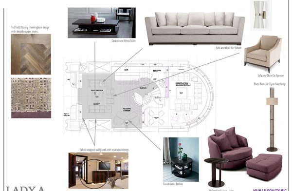 Final Furniture selection - saloon